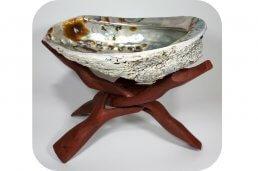 Cobra standaard driepoot groot incl abalone schelp ~geurhout.nl