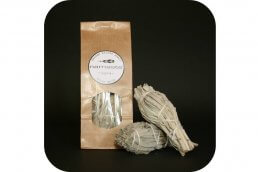 Witte Salie smudge stick small 2x ~geurhout.nl
