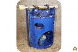 Aromalamp keramiek blauw met kannetje ~ geurhout.nl