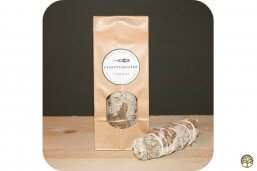 Smudge Stick Witte Salie & Lavendel klein ~ Geurhout.nl