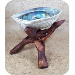Cobra driepoot middel met een abalone schelp middel ~ geurhout.nl