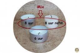 Waxinelichtjes Koolzaad 8 uur Mix – Geurhout.nl